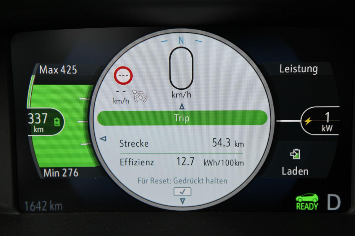 Testprotokoll Opel Ampera-e