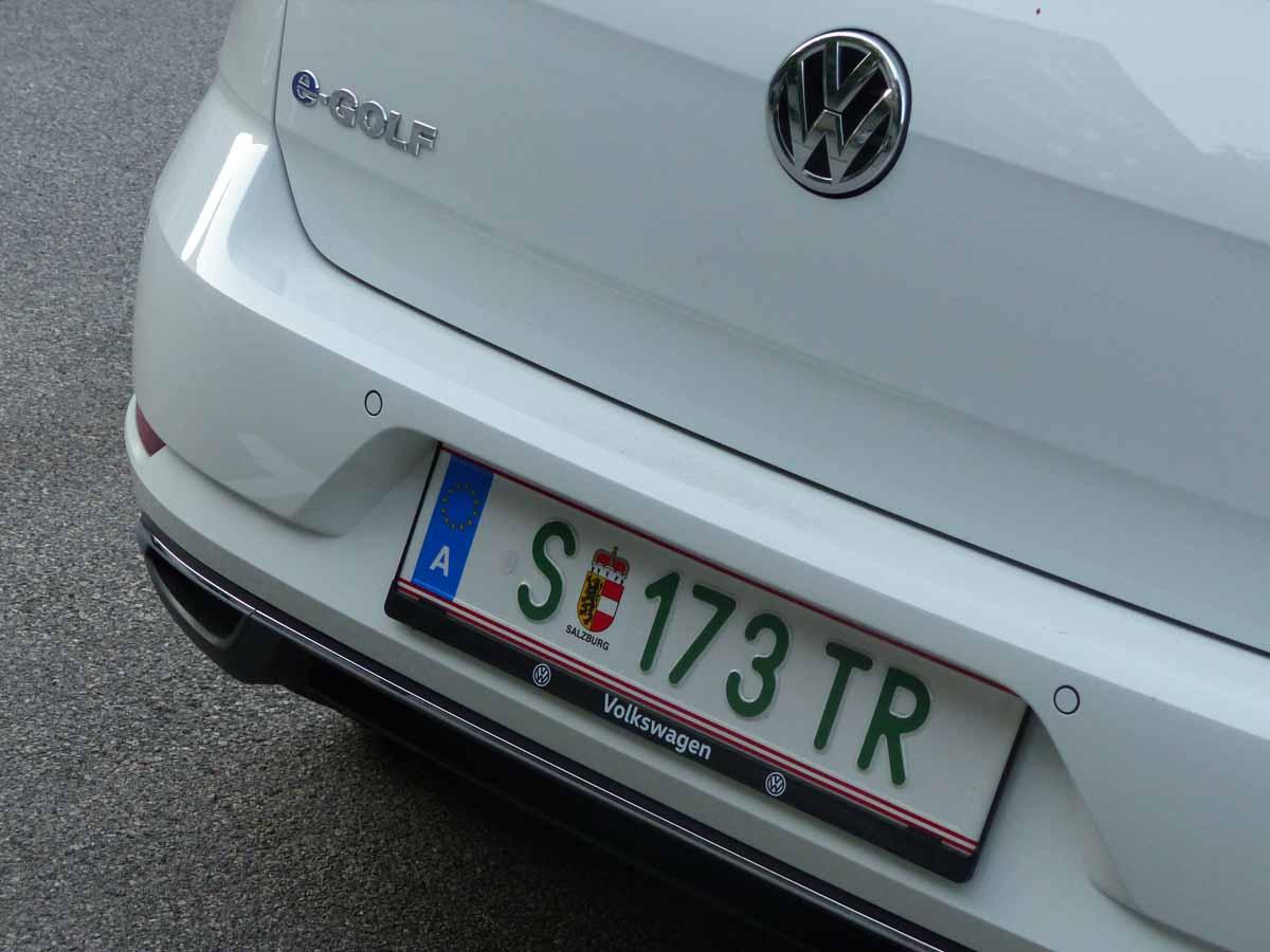 Spezielle Elektroauto-Kennzeichen