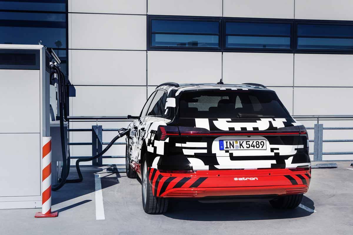 Audi e-tron Workshop Ladetechnik