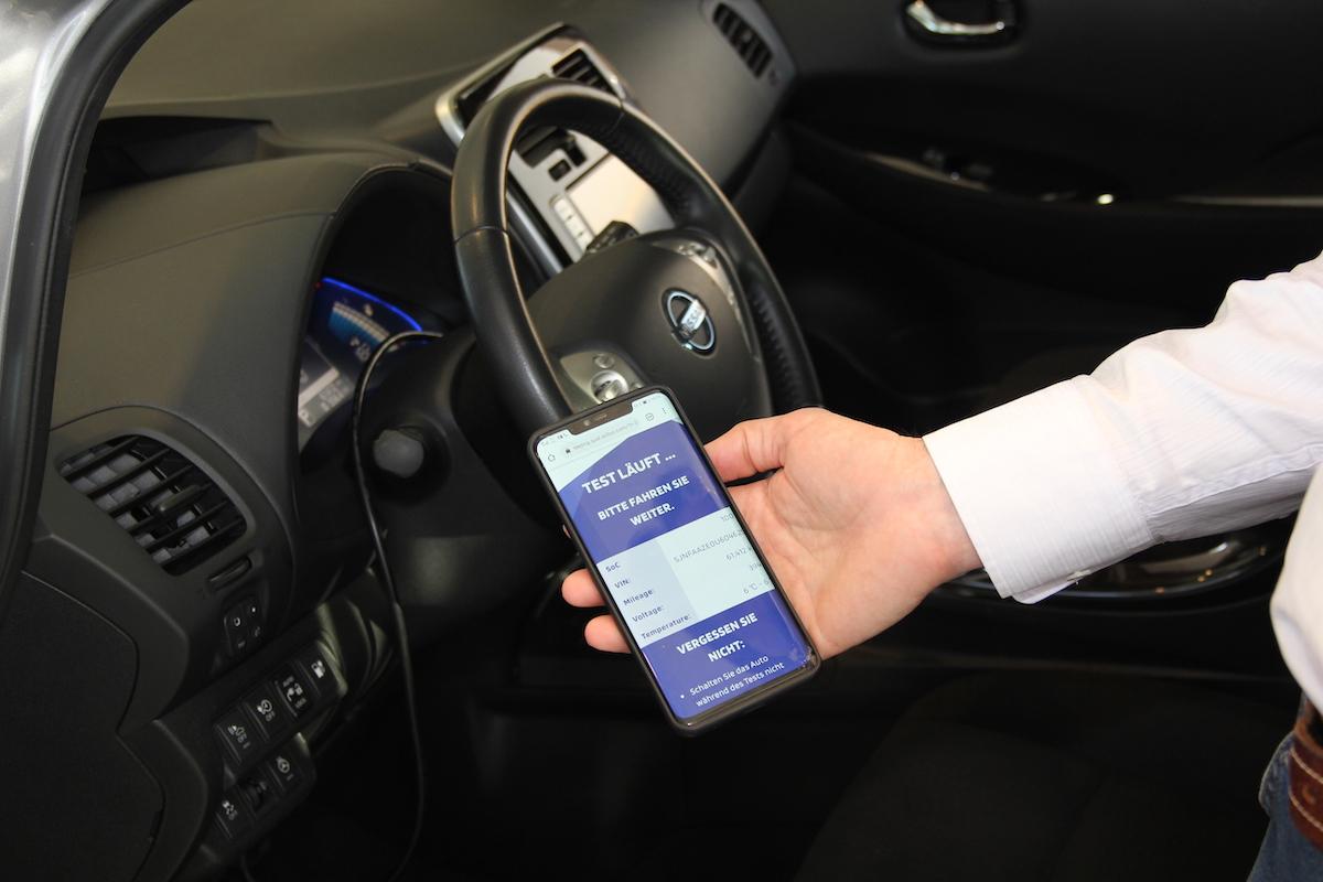 Batterietest für gebrauchte Elektroautos